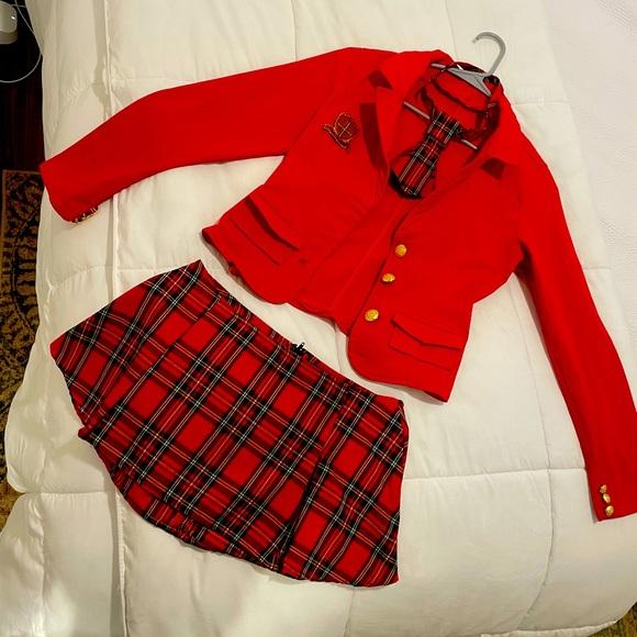 Small naughty school girl costume